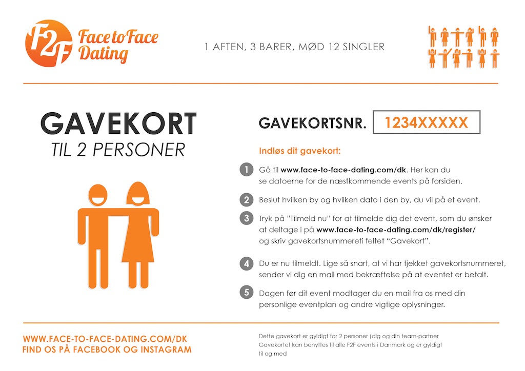 bc7f5842 GAVEKORT til Face-to-Face Dating | Face to Face Dating DK | Single ...